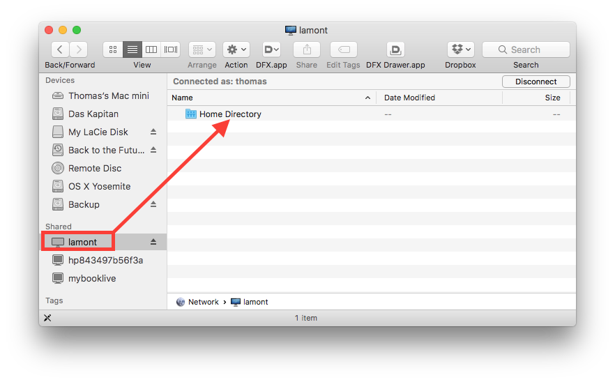 Home Directory showing up in the Finder