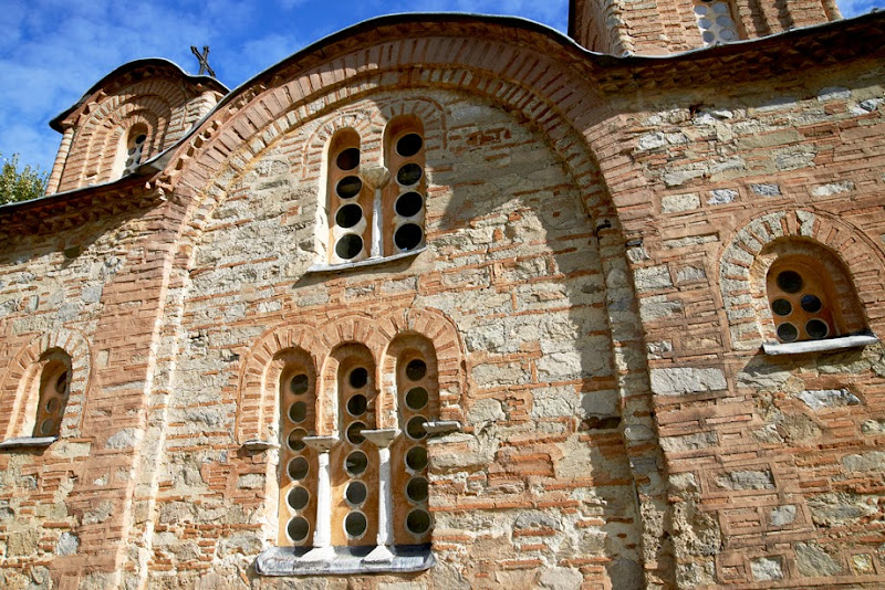 15. Wall and windows. The Church of St. Panteleimon in Gorno Nerezi. XII Century