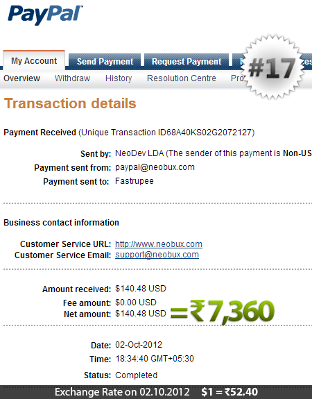 Neobux Payment Proof 17