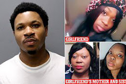 Chicago man rages over his girlfriend's refusal to tie his hair; he kills her, his mother, and his sister.