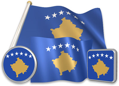 Kosovar flag animated gif collection