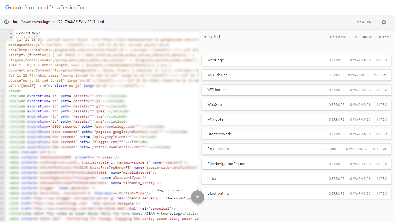 Image of Structured Data Testing Tool - Google