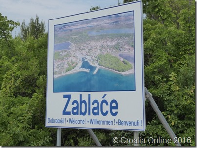 Croatia Online - Zablace Sign