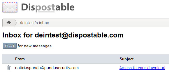 Dispostable Inbox