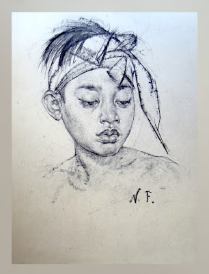 "Nicolai Fechin Indian Portrait ""Young Native American Boy"""