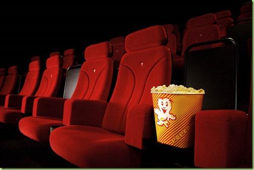 popcorn empty theatre seats