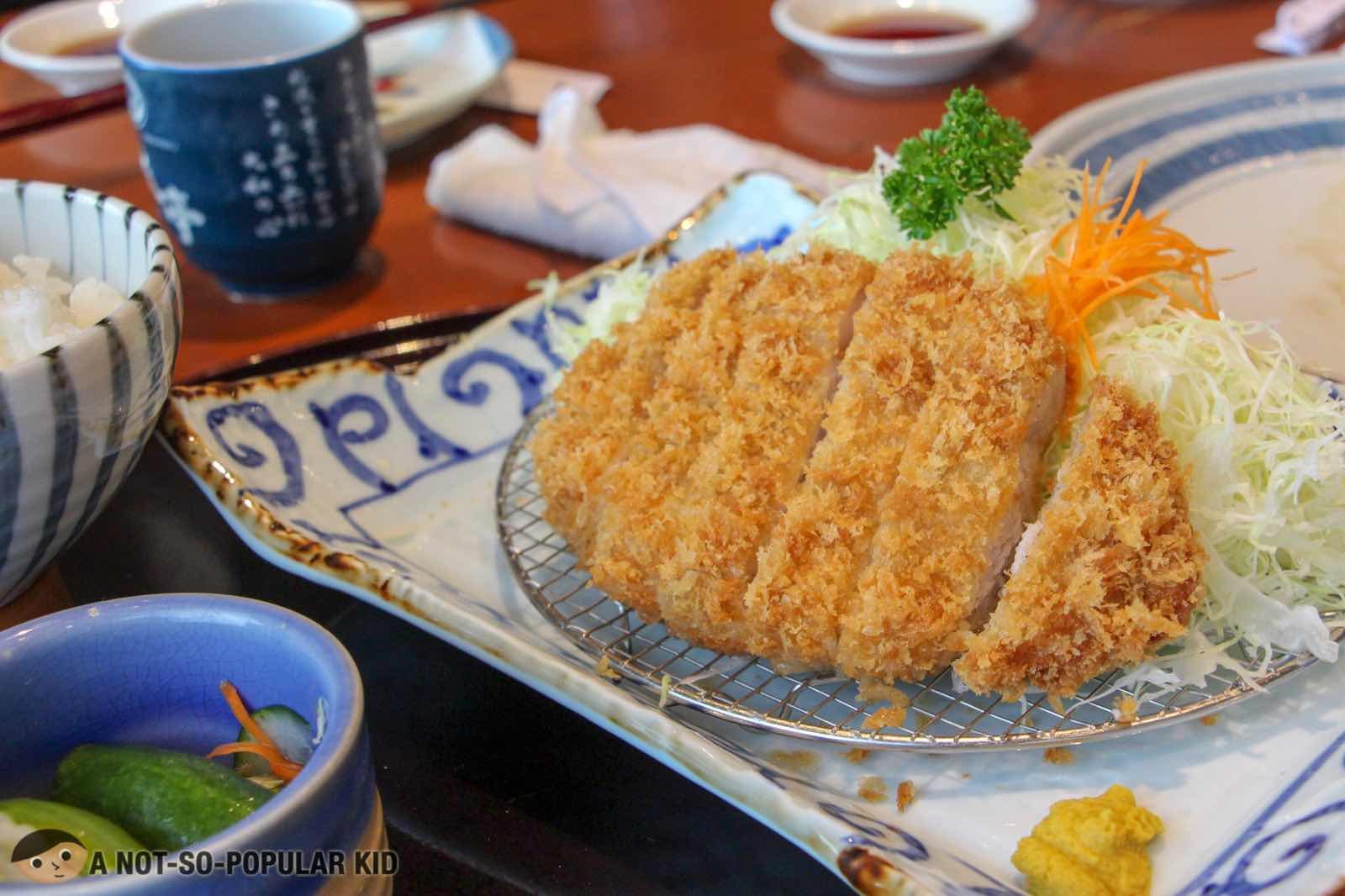 Ton-Katsu Lunch Set of Mushashi-Tei in BGC
