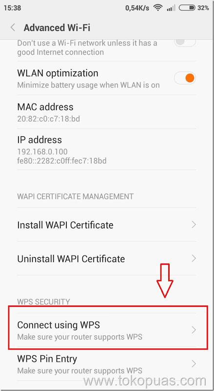 tutorial koneksi wifi secara cepat dengan wps