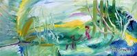 """""""Der Himmel hilft"""", Öl auf Leinwand, 120x50, 2005"""