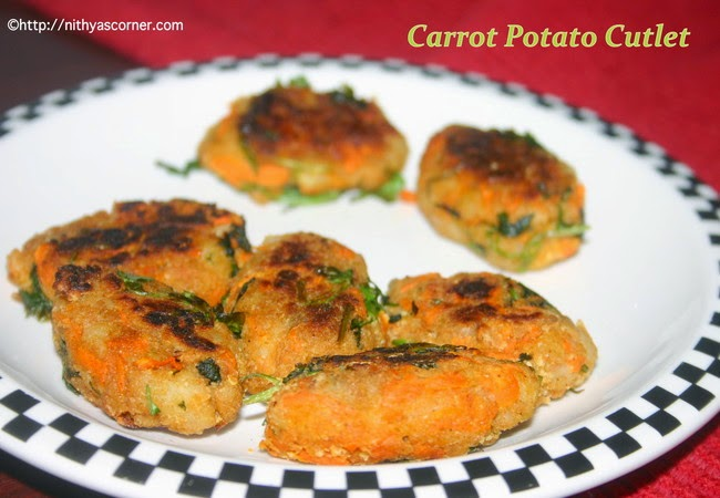 simple easy carrot potato cutlet