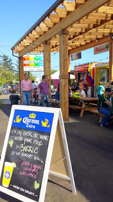 After ordering food at the food cart pod here, visit Barrio Bar at Portland Mercado where you can order a wine, beer, michelada, or sangria to enjoy.
