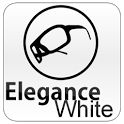 White Elegance Theme GO SMS icon