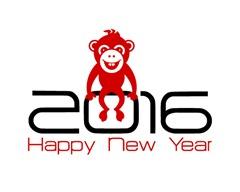 с новым годом 2016 безьяны