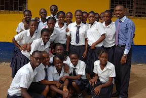 The high school choir