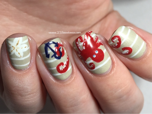 Nautical + Sea Nail Art - 25 Sweetpeas