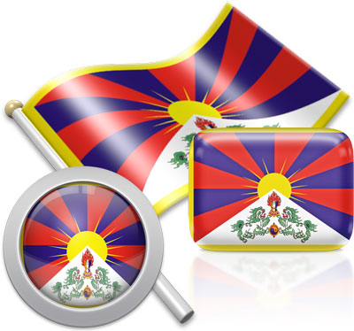 Tibetan flag icons pictures collection