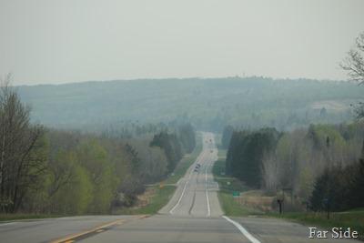 Smoky areas near Kabekona Corners