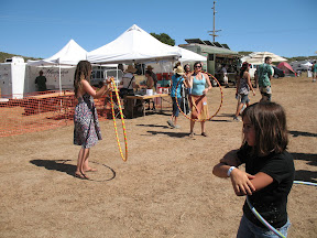 These girls were really good at the hula-hoop.