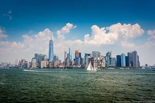 Manhattan skyline from the sea