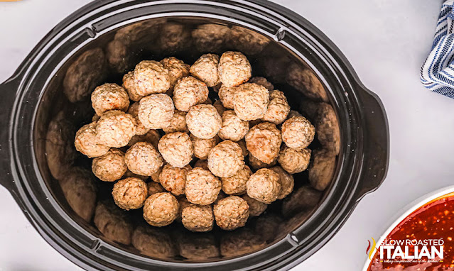 meatballs in the slow cooker