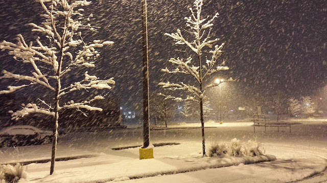 First snowfall of Winter 2015 in Chicagoland