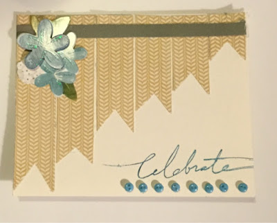Using Scraps for a Beautiful Celebration Card