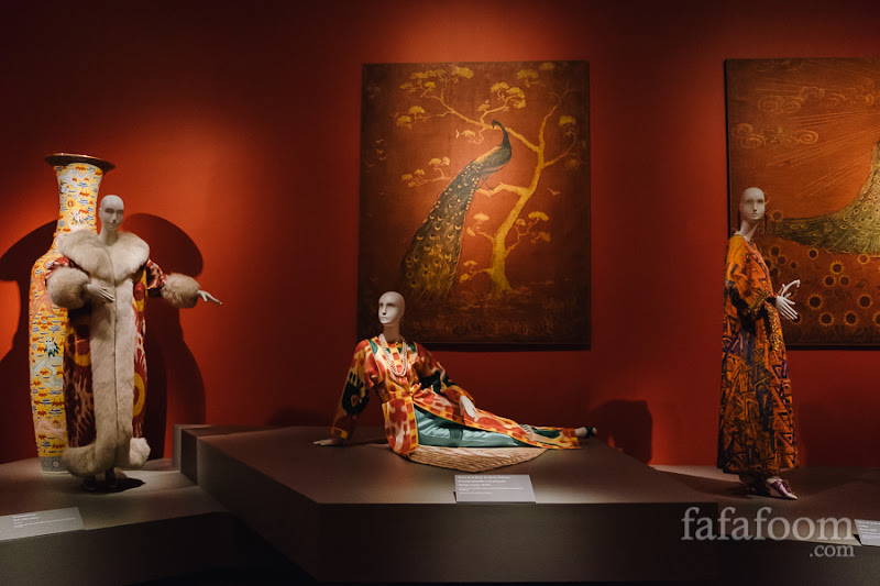 """Eastern Influence"" Showcase of Oscar de la Renta: The Retrospective exhibition at de Young Museum, San Francisco."