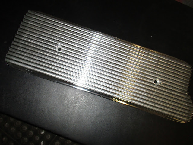 Polished flat style finned aluminum valley pan cover.. Fits all Nailhead engines.. 125.00 ... made in USA