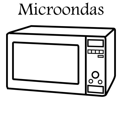 pinto dibujos  horno de microondas para colorear