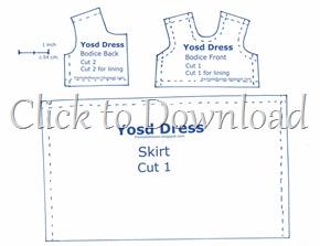 Yosd Bjd Dress Pattern