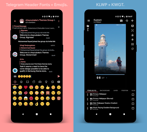 [Substratum] yoru. for Samsung Oreo 25 screenshots 7
