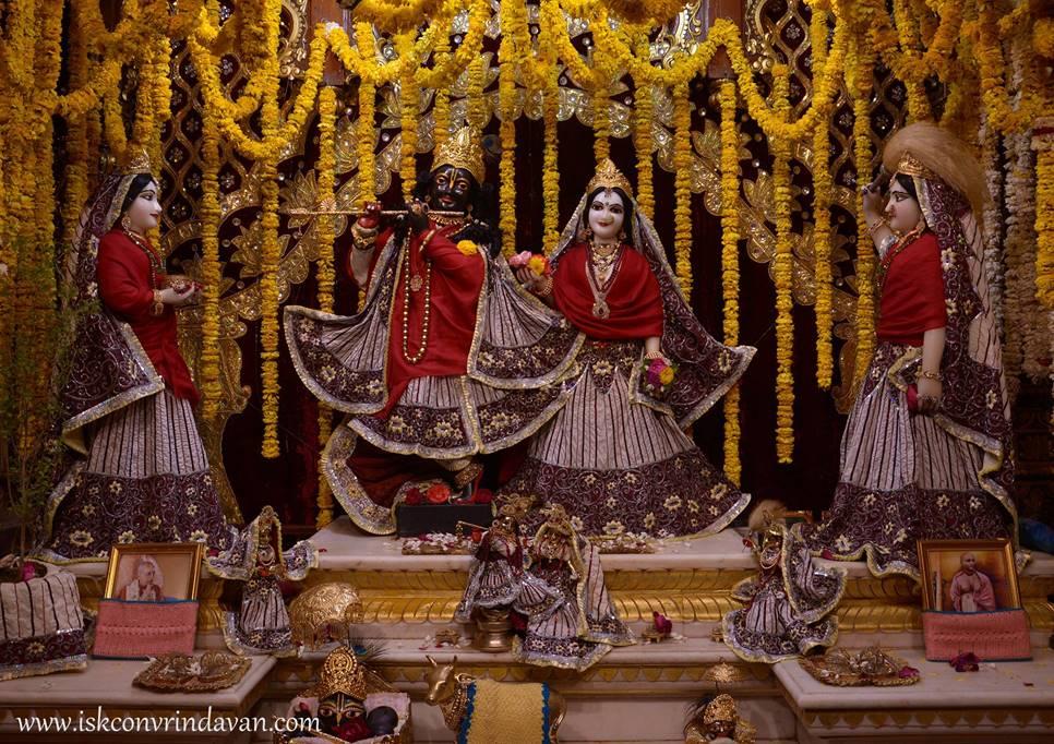 ISKCON Vrindavan Mangal Deity Darshan 28 Feb 2016  (1)