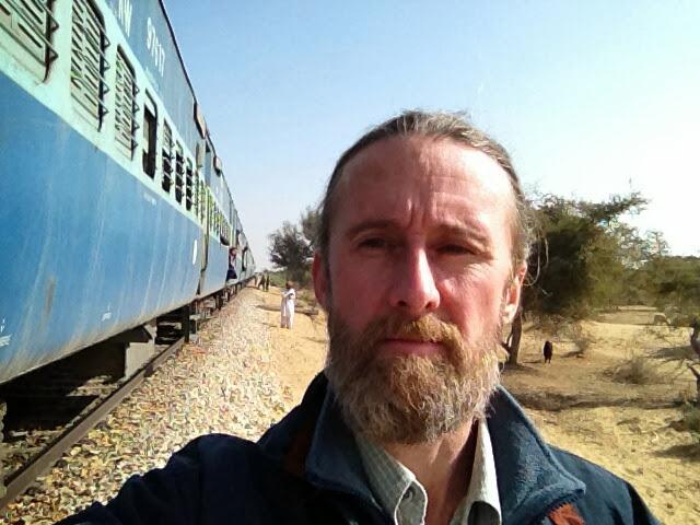 Train, stopped approaching Jaisalmer