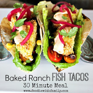 Baked Ranch Fish Tacos {30 Minute Meal from Scratch}.