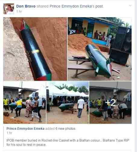 IPOB Member Buried In Rocket Casket