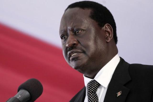 Raila Odinga in a past function