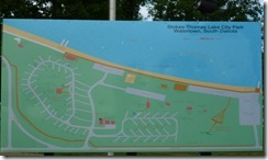 Campground map on Lake Kampeska