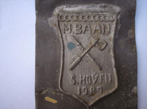 Naam: M. BaanPlaats: SchoonhovenJaartal: 1989