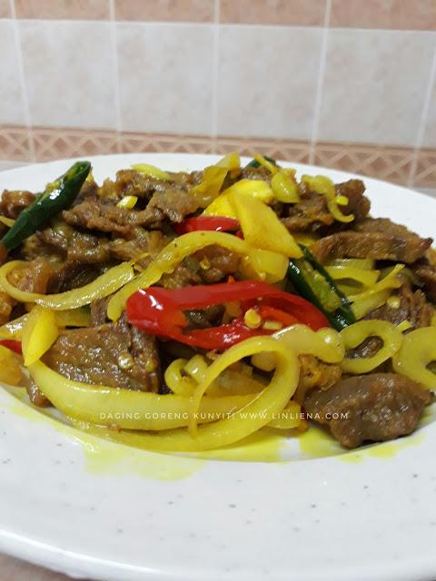 Resepi Daging Goreng Kunyit