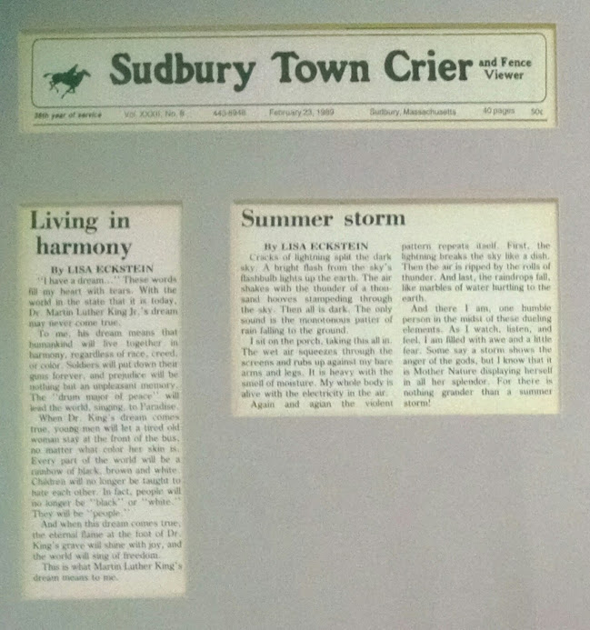 two essays published in the Sudbury Town Crier
