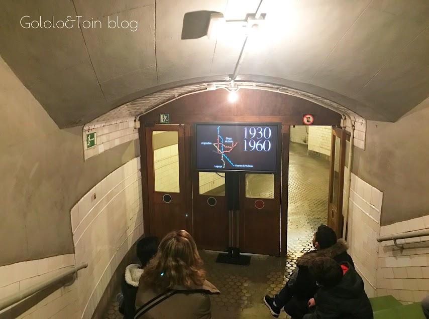 Video explicativo dentro de la estación fantasma de Madrid