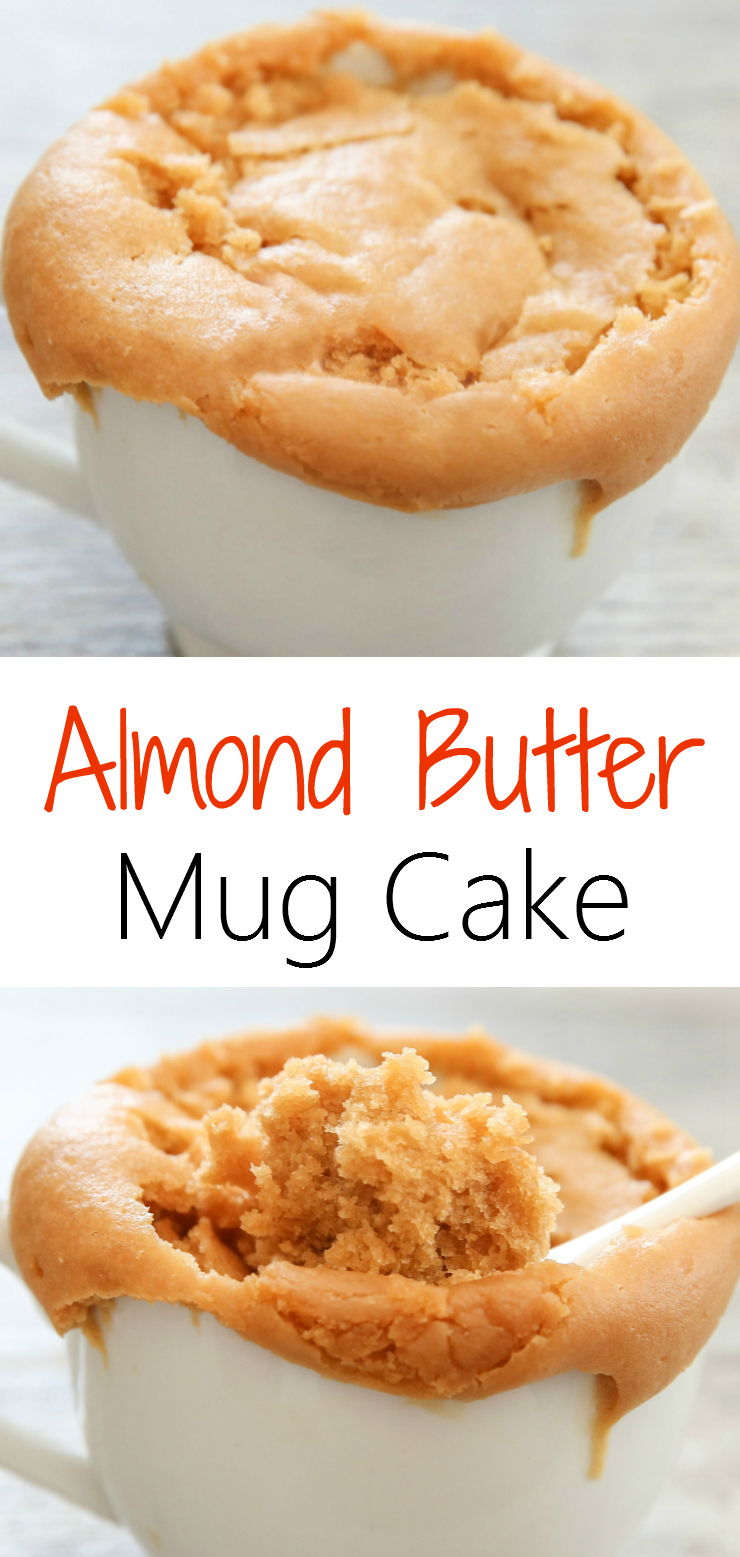 photo collage of Almond Butter Mug Cake