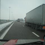 Lastwagenkolonne Richtung Rotterdam