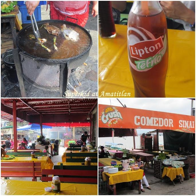 Amatitlán湖邊有非常多賣餐點的小販,不用擔心餓肚子