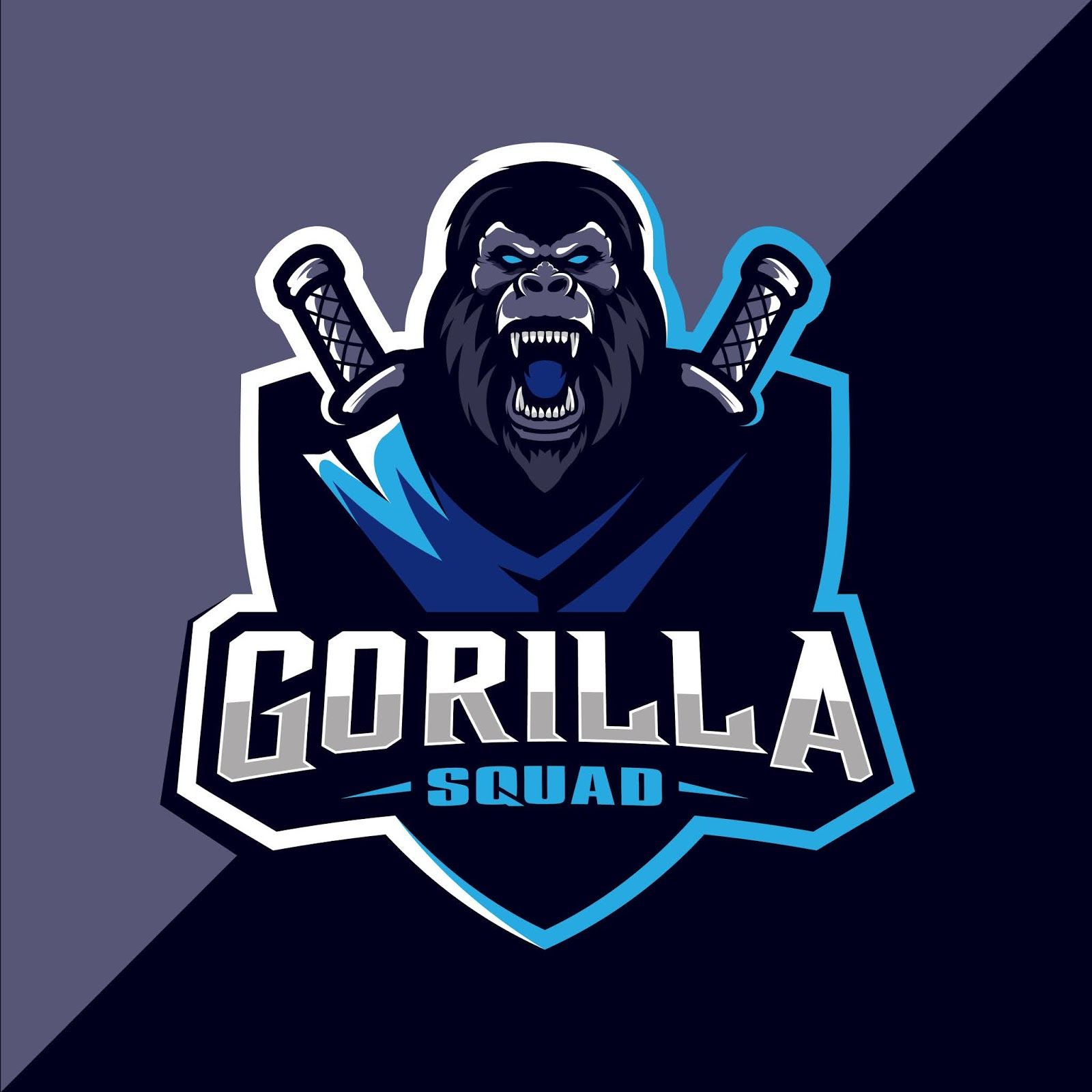Angry Gorilla Mascot Esport Logo Design Free Download Vector CDR, AI, EPS and PNG Formats