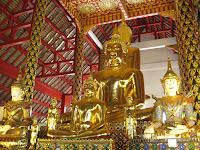Golden Buddhas - Wat Suan Dok - Chiang Mai