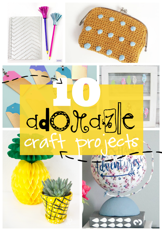 10 Adorable Craft Projects at GingerSnapCrafts.com #crafts #gingersnapcrafts