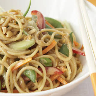 Chinese Noodles in Peanut Sauce.