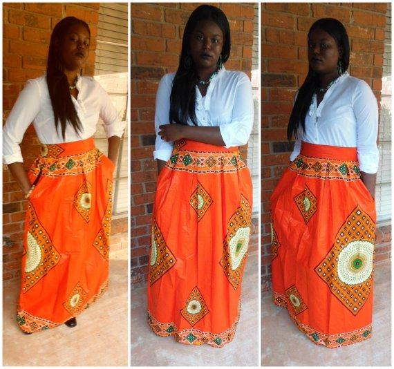 African  Print Ankara Maxi Skirts 2017