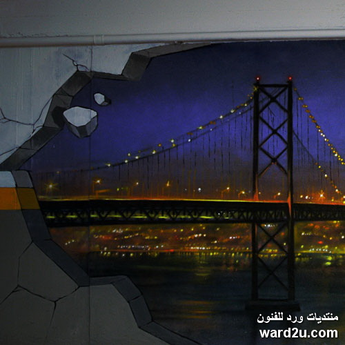 خداع بصر ثلاثى الابعاد الفنان البرتغالى Sergio Odeith